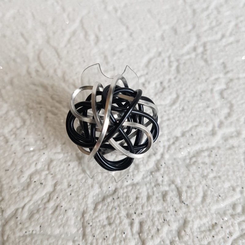 Ring Chaos in schwarz-silber - beautiful